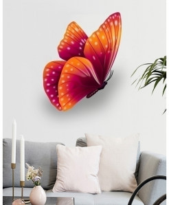 Varicolored Butterfly Stylish Design Wall Decal BNS-427