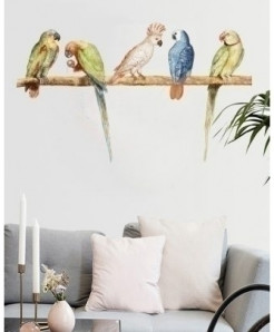Parrots Stylish Design Wall Decal BNS-420