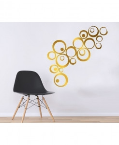 Golden Pattern Stylish Design Wall Decal BNS-447