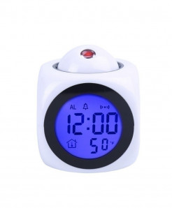 White Multi Function Clock Led Alarm Clock