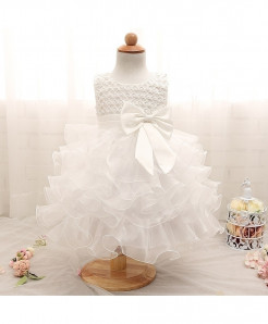 White Christening Gown Princess Dress