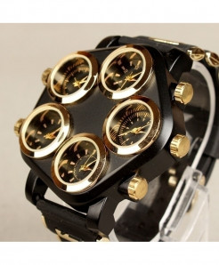 SHI WEI BAO Black Punk Hip Hop Large Dial Creative Locomotive Watch