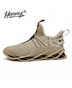 Hemmyi Khaki Blade Non-slip Shock Absorber Breathable Sports Shoes