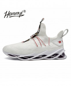Hemmyi White Blade Non-slip Shock Absorber Breathable Sports Shoes