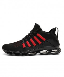 SENTA Black Red Blade Breathable Comfortable Casual Shoes