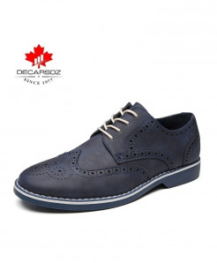 WENKOUBAN Deep Blue Lace-up Zapatillas Hombre Casual Shoes