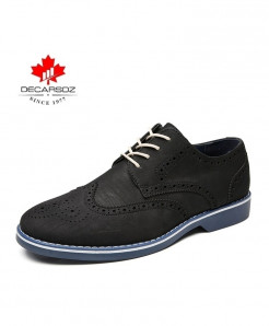 DECARSDZ Black Comfortable British Stylish Casual Shoes