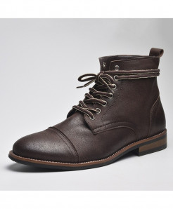 COSIDRAM Choco Brown Lace-up Ankle British Boots