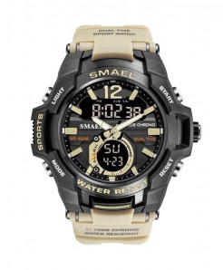 SMAEL Khaki Sport LED Digital 50M Waterproof Watch