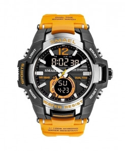 SMAEL Orange Sport LED Digital 50M Waterproof Watch