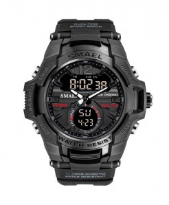 SMAEL Black Sport LED Digital 50M Waterproof Watch
