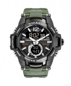 SMAEL Army Green Sport LED Digital 50M Waterproof Watch