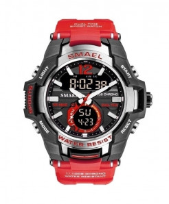 SMAEL Red Sport LED Digital 50M Waterproof Watch