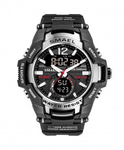 SMAEL Silver Sport LED Digital 50M Waterproof Watch