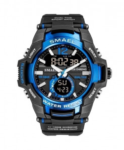 SMAEL Blue Sport LED Digital 50M Waterproof Watch