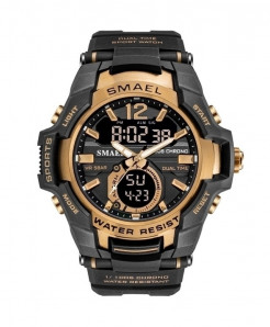SMAEL Rose Golden Sport LED Digital 50M Waterproof Watch