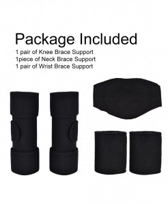 Magnet Heat Therapy Neck Elbow Knee 3pcs Self Heating Brace Support