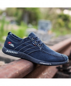 Blue Denim Canvas Breathable Casual Vulcanize Shoes