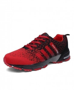 MAYLEN HUGHES Red Lightweight Breathable Mesh Casual Shoes