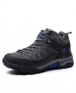Blue Gray Rubber Ankle Stylish Boots