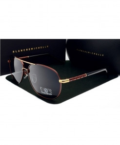 Blanche Michelle Brown Polarized Sun Glasses