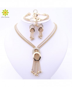 Fine Crystal African Beads Jewelry Set