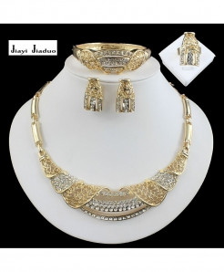 Jiayi Jiaduo Golden African Jewelry Set