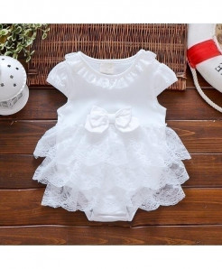 Pearl Diary White Baptism Gown Baby Girl Dress