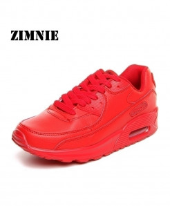 ZIMNIE Red Mesh Lightweight Breathable Sports Shoes