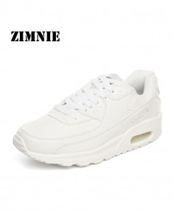 ZIMNIE White Air Mesh Lightweight Breathable Sports Shoes