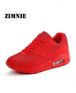 ZIMNIE Red Air Mesh Lightweight Breathable Sports Shoes