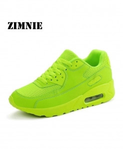ZIMNIE Green Air Mesh Lightweight Breathable Sports Shoes