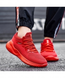 Sollomensi Red Ultralight Athletic Jogging Sport Shoes