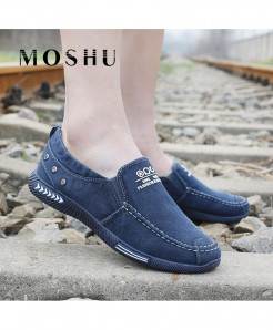 MOSHU Blue Denim Slip-On Casual Shoes