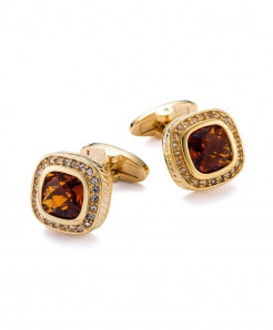 VAGULA Golden Rhinestone Cufflinks