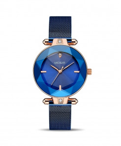 MEGIR Blue Stainless Steel Elegant Ladies Watch