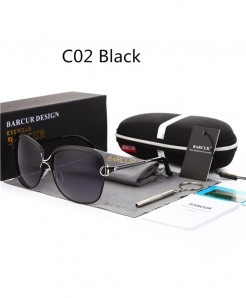 BARCUR Black Polarized Gradient Lens Sunglasses