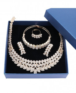 Golden Crystal Stylish Jewelry Sets