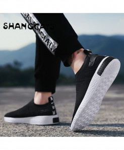 SHANGCATS Black Thin Flat Stylish Design Casual Shoes
