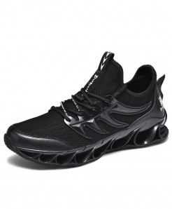 SENTA Black Anti-Skid Damping Blade Casual Shoes