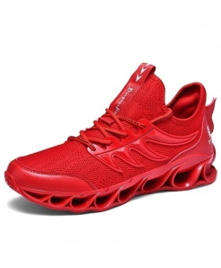 SENTA Red Anti-Skid Damping Blade Casual Shoes