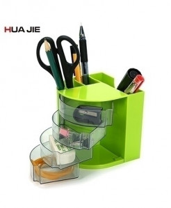 Green Transparent Plaid Pen Holder