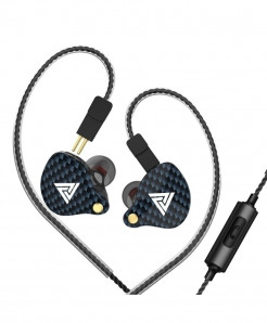 QKZ Black Noise Cancelling HIFI Bass Replaced Cable Handsfree