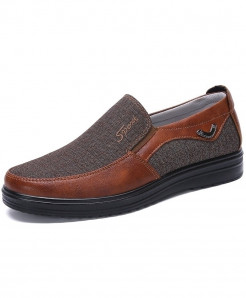 Merkmak Red Brown Stylish Canvas Design Casual Shoes