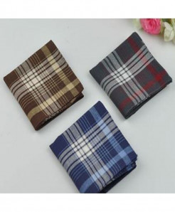 Pack Of 3 Soft Cotton Vintage Square Handkerchief