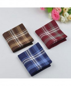 Pack Of 3 Soft Cotton Vintage Style Handkerchief