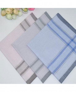 Pack Of 3 Soft Classic Light Cotton Handkerchief