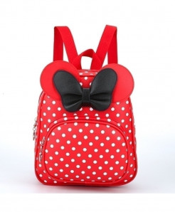 ZIRANYU Red Dotted Bow School Bag
