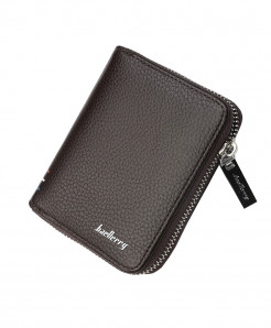 Baellerry Brown Card Slots Zipper Around Wallet