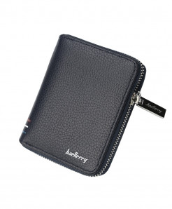 Baellerry Blue Card Slots Zipper Around Wallet